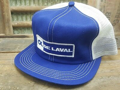 Vintage DE LAVAL Mesh SnapBack Trucker Cap Hat Patch K PRODUCTS Made In USA