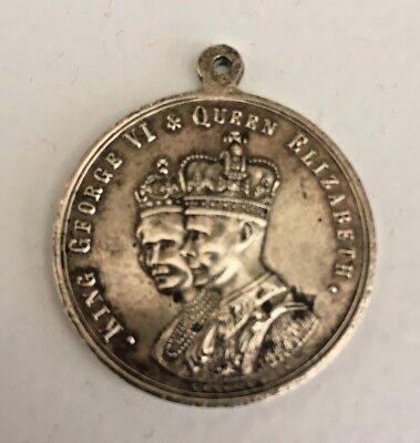 Medallion To Commemorate King George Vi & Queen Elizabeth Coronation May 1937