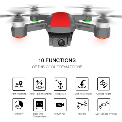 DJI Spark Clone GPS Drone 2-Axis Gimbal 1080P Camera HD Brushless 800m WiFi FPV