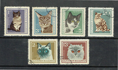 Bulgaria 1967 Cats - Complete Set - Mint/Hinged - CTO