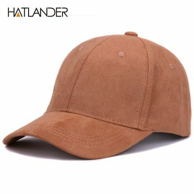 Plain Suede baseball caps with no embroidered casual dad hat strap back outdoor