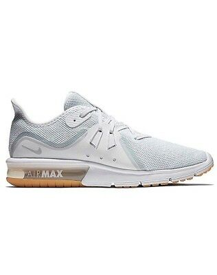 sale retailer a2985 73a94 Men Nike Air Max Sequent 3 Athletic Run Shoes White Pure Platinum 921694-101