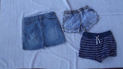 Girls size 7 Shorts and a skirt - excellent condition - bulk lot