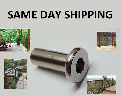 """Marine Grade 316 Stainless Steel Protector Sleeve for 1/8"""" - 3/16"""" Cable Railing"""