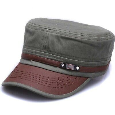 New fashion cotton Military hats for men women adjustable Flat top