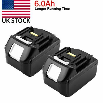 2x For New In Package Makita BL1860B 18V Battery 6.0 AH LED Gauge 18 Volt LXT