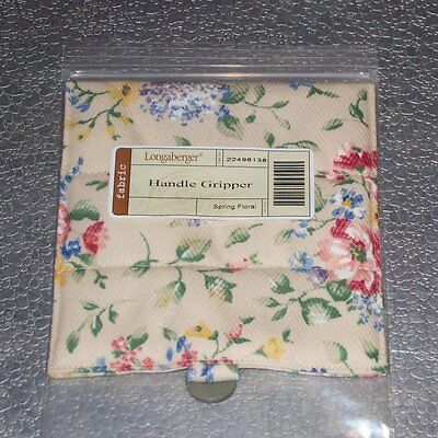 Longaberger Spring Floral HANDLE GRIPPER Button-Style ~ New in Original Bag!