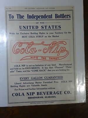Cola-Nip 1913 Color Ad