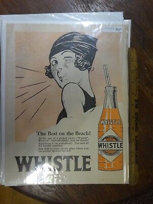 Color Whistle Ad with Girl Whistling