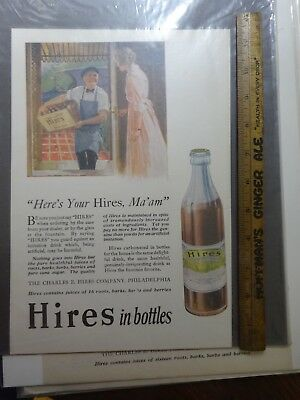 Early Hires Root Beer Full Page Ad with Bottle