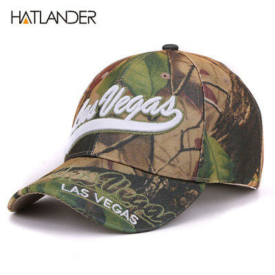Las Vegas leaf camouflage baseball caps summer fishing hats gorras