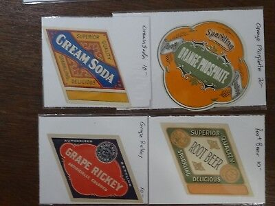 Four Early Soda Labels