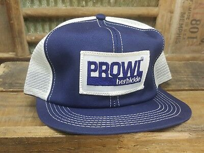 Vintage PROWL Herbicide Mesh SnapBack Trucker Hat Patch K PRODUCTS Made In USA