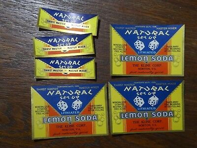 Virginia Soda Labels with neck labels