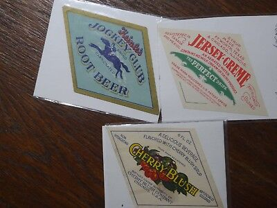 Root Beer, Cherry Blush, and Jersey Creme Soda Labels