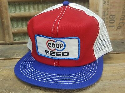 Vintage COOP FEED SnapBack Trucker Hat Cap Patch K BRAND Made In USA CO OP