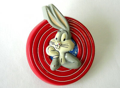 Vintage Fridge Magnet BUGS BUNNY in Iconic Rings ™ & © 1993 Warner Bros -Plastic