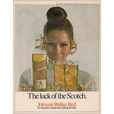 1970 Johnnie Walker Red: The Luck of the Scotch Vintage Print Ad