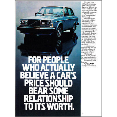 1982 Volvo: For People Who Actually Believe Vintage Print Ad