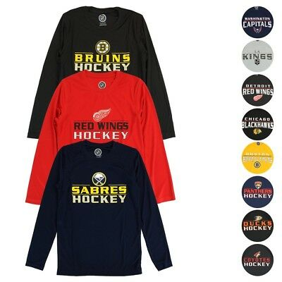 5505fc36b7ae4 NHL Outerstuff Team Performance Long Sleeve T-Shirt Collection Youth (S-XL)