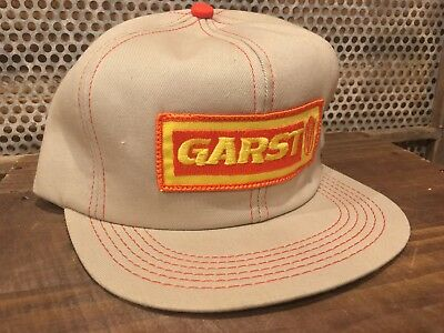 Vintage Garst Seed Mesh Snapback Trucker Hat Cap Patch K Products MADE IN USA