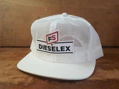 Vintage FS DIESELEX All Mesh SnapBack Patch Trucker Hat K PRODUCTS MADE IN USA