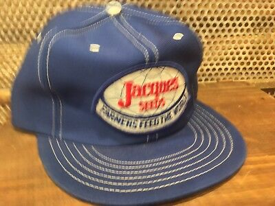Vintage JACQUES SEEDS Snapback Trucker Hat Cap Patch MADE IN USA