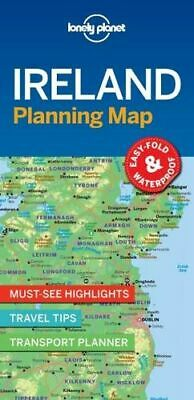 NEW Ireland Planning Map By Lonely Planet Travel Guide Folded Sheet Map