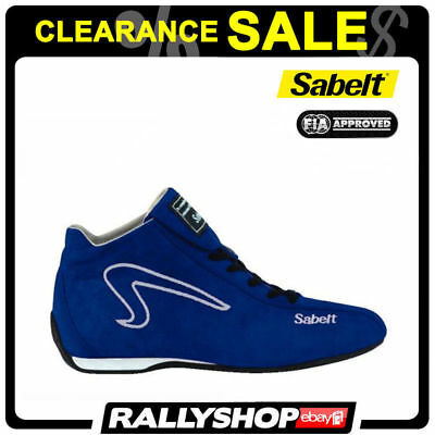 FIA Sabelt Shoes SPITFIRE FIA BLUE Leather Kangaroo 37 Rally CLEARANCE SALE!