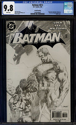 Batman #612 CGC 9.8 Sketch Variant!! Jim Lee Cover!!! Hush!!!