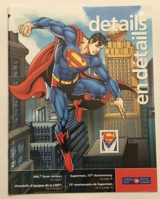 2013 Canada Post Superman 75th Anniversary Coins and Stamps Catalog Magazine
