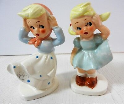 """Vintage Made in Japan Two Little Girls 4 1/2"""""""