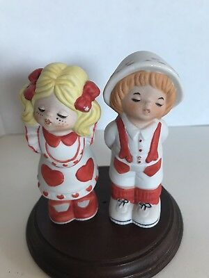 Vintage Enesco Lucy Rigg Valentine Boy Girl Figurines Not Bears Ceramic 1979 Hf