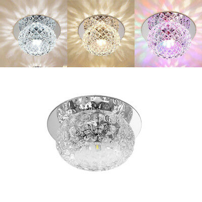 Modern Crystal LED Ceiling Light Fixture Pendant Lamp Lighting Chandelier 5W US