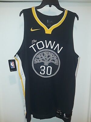 Golden State Warriors The Town Stephen Curry Authentic Nike Statement Jersey  56 178007729