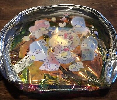 Hello Kitty Sanrio Loot Crate Splash Collection Iridescent Makeup Bag Pouch