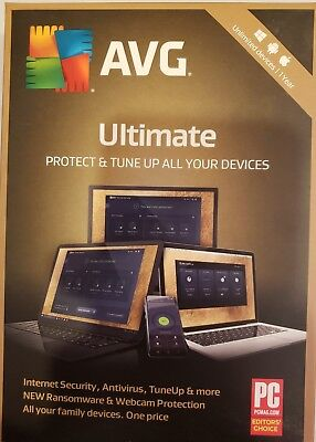 Avg Ultimate Security - Unlimited Devices For 1 Year - Windows, Mac, & Android