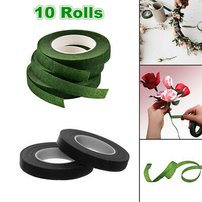 10x Floral Stem Tape Paper Florist Eco Floral Tape Wedding Bouquet Stem Wrap DIY