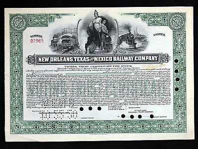 New Orleans, Texas and Mexico Railway Co  less than 100 shares  cancelled