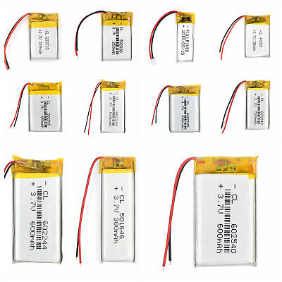3.7V 70~950mAh Rechargeable Battery Cell For Bluetooth GPS MP3 MP4 Headset