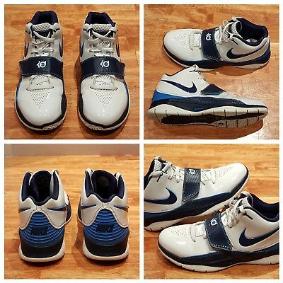 buy online f9103 afb39 Nike KD II 2 Basketball Shoes Midnight Navy Blue Creamsicle 386423-141, Sz 8