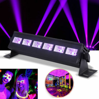 6/12 LED UV DMX512 Ultra Violet Stage Lighting for Party UV Bar Light AU
