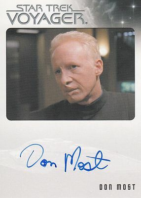 Star Trek Voyager Quotable 2012 Don Most autograph