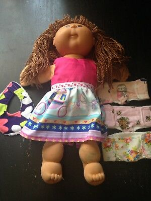 Homemade Cabbage Patch Clearance Bundle 5 : Dress, 3 Nappies And Bib