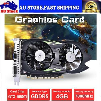 PC Independent Game Graphics Card Video Card GTX1050TI-4G GDDR5 128Bit Dual Fan