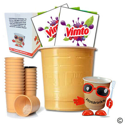 Vimto 'Hot or Cold', In Cup, Incup Drinks for 73mm Vending [Sleeve of 25 Cups]