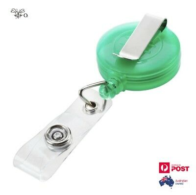 Retractable Lanyard ID Name Badge Card Holder Tag Anti-Lost Clip -GREEN-