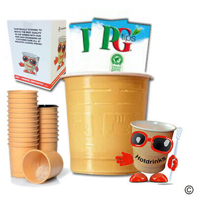 PG Tips 'Bag & Tag' or Instant Tea, In Cup Drinks for 73mm Vending [25 cups]
