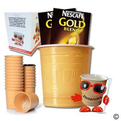 Nescafe Gold Blend Coffee, In Cup Drinks for 73mm Vending [Sleeve of 25 Cups]