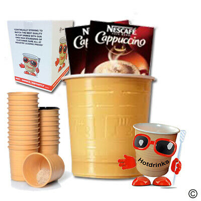 Nescafe 'Gold' Cappuccino, In Cup Drinks for 73mm Vending [Sleeve of 20 Cups]
